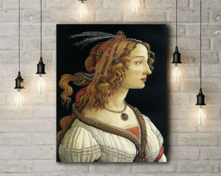 Sandro Botticelli: Portrait of a Young Woman. Fine Art Canvas.